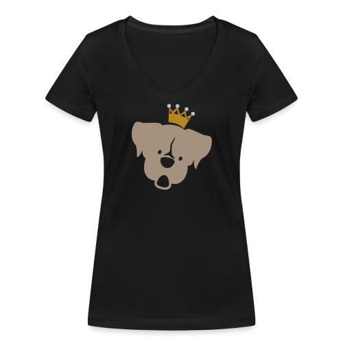 Prinz Poldi braun - Frauen Bio-T-Shirt mit V-Ausschnitt von Stanley & Stella