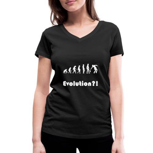 Evolution drunk saeufer alkohol - Frauen Bio-T-Shirt mit V-Ausschnitt von Stanley & Stella
