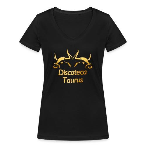 LOGO TAURUS GOLD - Camiseta ecológica mujer con cuello de pico de Stanley & Stella