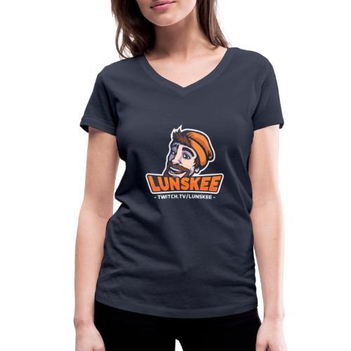 Lunskee Mascot Logo - Vrouwen bio T-shirt met V-hals van Stanley & Stella