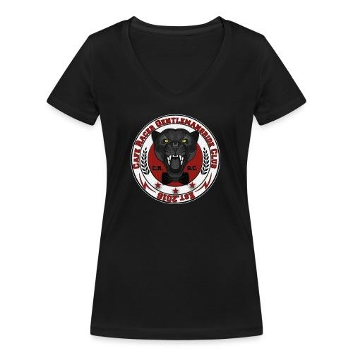 logopanthercrfcnew - Women's Organic V-Neck T-Shirt by Stanley & Stella