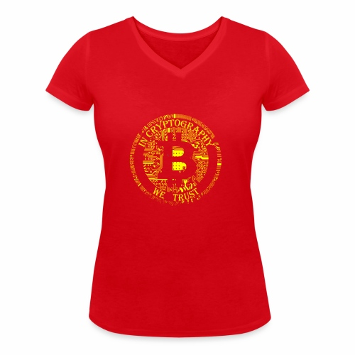 In cryptography we trust 2 - Women's Organic V-Neck T-Shirt by Stanley & Stella