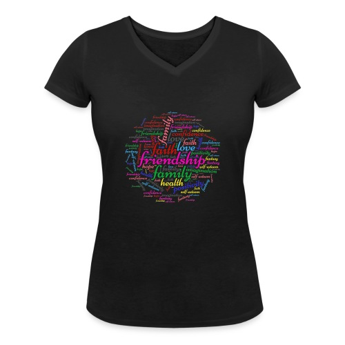 Important things - T-shirt ecologica da donna con scollo a V di Stanley & Stella