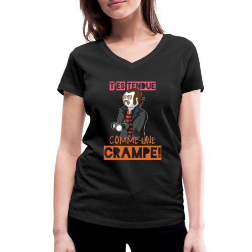 Claudy Faucan Dikkenek - T-shirt bio col V Stanley & Stella Femme