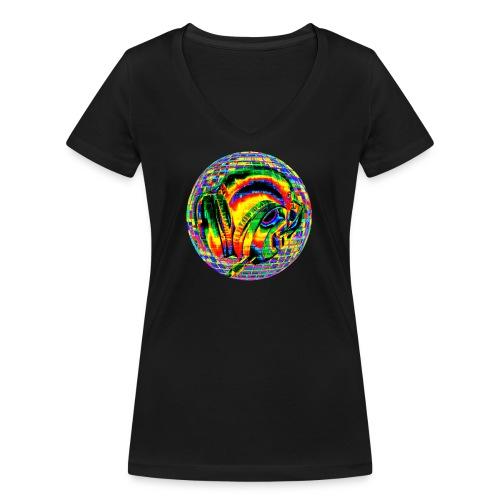 Casque à facettes - T-shirt bio col V Stanley & Stella Femme