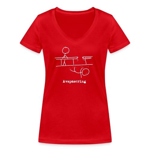 Avspasering kvit png - Økologisk T-skjorte med V-hals for kvinner fra Stanley & Stella