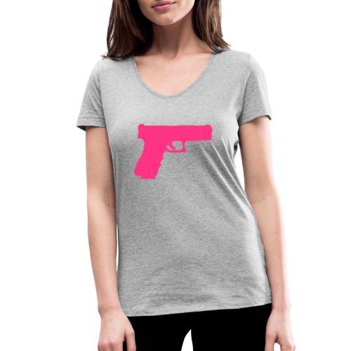 Pistol 88 C2 - Glock 17 Gen.3 - Ekologisk T-shirt med V-ringning dam från Stanley & Stella