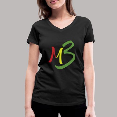 MB13 Logo rasta1 - Women's Organic V-Neck T-Shirt by Stanley & Stella