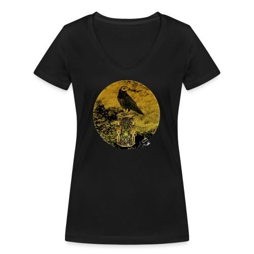 'Memento Mori', round w. logo by BlackenedMoonArts - Økologisk Stanley & Stella T-shirt med V-udskæring til damer