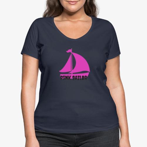 PINK SAILOR - Ekologisk T-shirt med V-ringning dam från Stanley & Stella