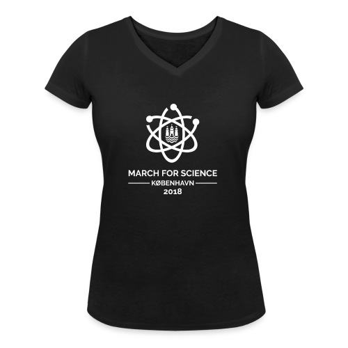 March for Science København 2018 - Women's Organic V-Neck T-Shirt by Stanley & Stella