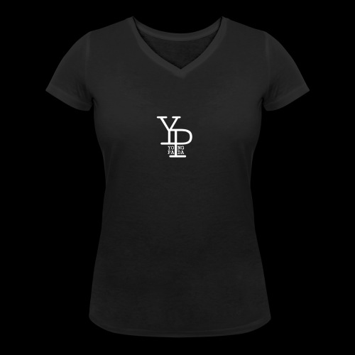 YO_NG PA_DA WHITE DESIGN - Frauen Bio-T-Shirt mit V-Ausschnitt von Stanley & Stella