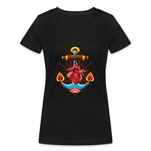 Sailor's Heart - Tattoo design - T-shirt bio col V Stanley & Stella Femme
