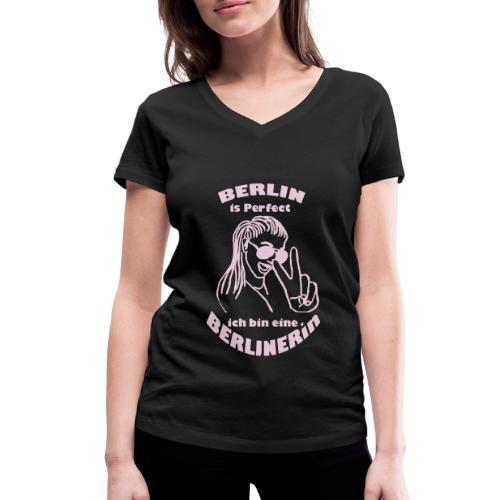 ich bin eine Berlinerin - Frauen Bio-T-Shirt mit V-Ausschnitt von Stanley & Stella