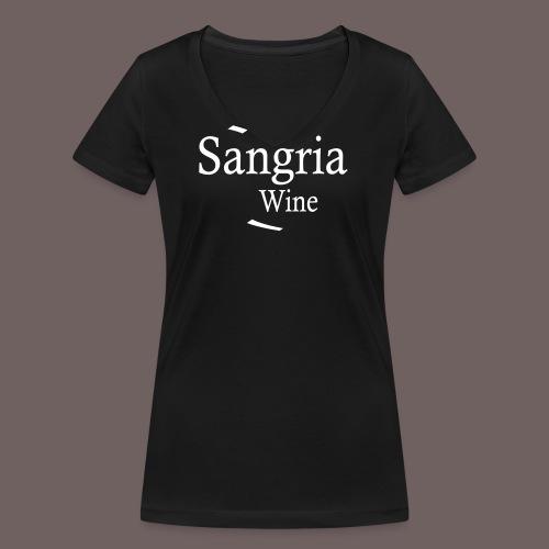 GBIGBO zjebeezjeboo - Fleur- Vin de Sangria [Flex] - T-shirt bio col V Stanley & Stella Femme