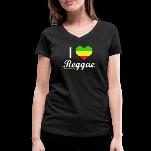 I LOVE Reggae - Frauen Bio-T-Shirt mit V-Ausschnitt von Stanley & Stella