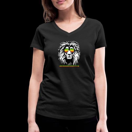 RASTA REGGAE LION - Frauen Bio-T-Shirt mit V-Ausschnitt von Stanley & Stella