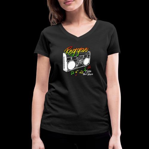 Reggae - Catch the Wave - Frauen Bio-T-Shirt mit V-Ausschnitt von Stanley & Stella
