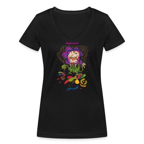 Döskalle - Ekologisk T-shirt med V-ringning dam från Stanley & Stella