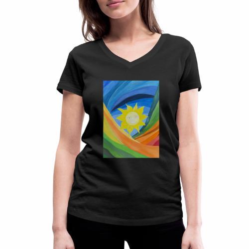 lachende-sonne - Frauen Bio-T-Shirt mit V-Ausschnitt von Stanley & Stella
