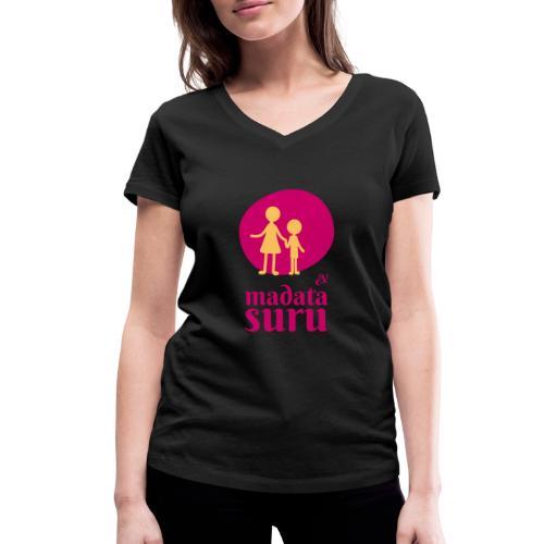 Madata Logo gelbes Männchen - Frauen Bio-T-Shirt mit V-Ausschnitt von Stanley & Stella