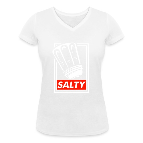 Salty white - Women's Organic V-Neck T-Shirt by Stanley & Stella