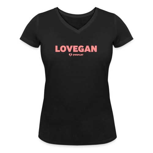 PWRPLNT LOVEGAN 02 - Women's Organic V-Neck T-Shirt by Stanley & Stella