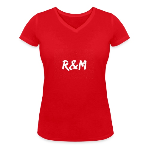R&M Large Logo tshirt black - Women's Organic V-Neck T-Shirt by Stanley & Stella