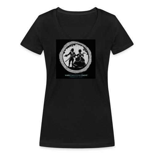 SHB - Näkymätön mies - Stanley & Stellan naisten v-aukkoinen luomu-T-paita