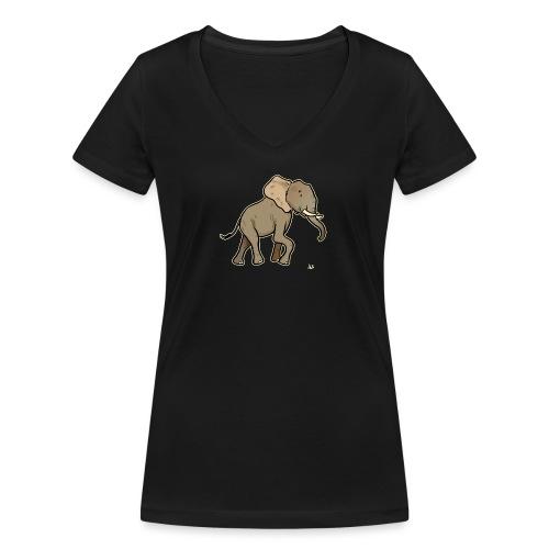 African Elephant (black edition) - T-shirt bio col V Stanley & Stella Femme