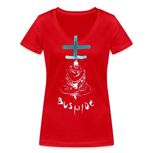 Bushido - Der Weg des Kriegers - Women's Organic V-Neck T-Shirt by Stanley & Stella