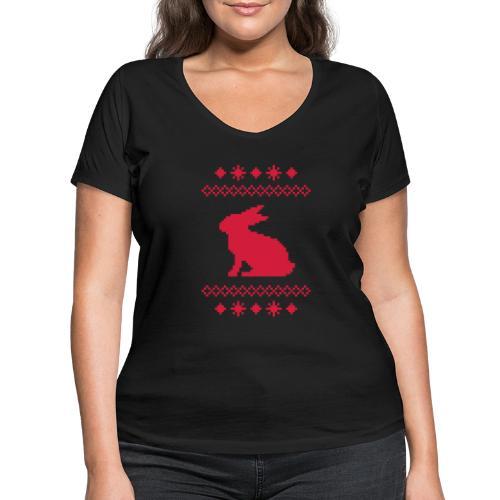 Norwegerhase hase kaninchen häschen bunny langohr - Frauen Bio-T-Shirt mit V-Ausschnitt von Stanley & Stella