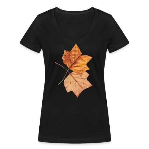 Blätter - Frauen Bio-T-Shirt mit V-Ausschnitt von Stanley & Stella