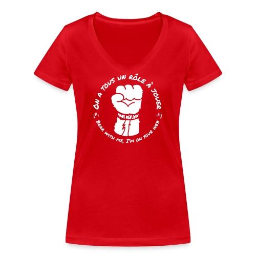 Tshirt-pw-2016-F-V - T-shirt bio col V Stanley & Stella Femme