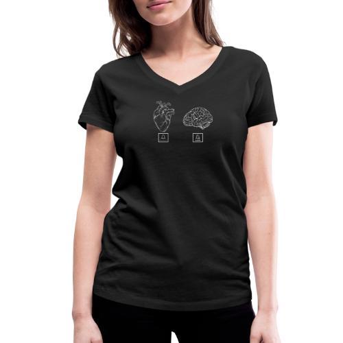 SILENZIA IL CERVELLO - T-shirt ecologica da donna con scollo a V di Stanley & Stella