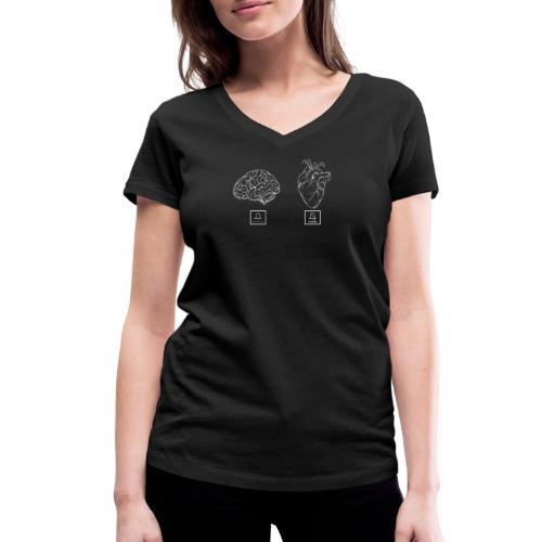 SILENZIA IL CUORE - T-shirt ecologica da donna con scollo a V di Stanley & Stella
