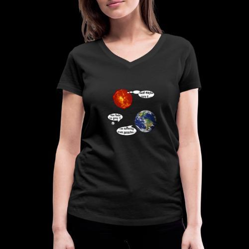 mg suffering planet - Frauen Bio-T-Shirt mit V-Ausschnitt von Stanley & Stella