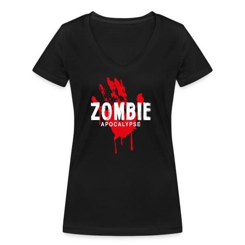 Zombie Apocalypse - Ekologisk T-shirt med V-ringning dam från Stanley & Stella