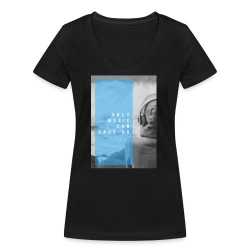 Only Music - Vrouwen bio T-shirt met V-hals van Stanley & Stella