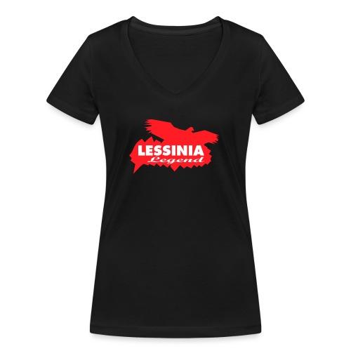 LESSINIA LEGEND - T-shirt ecologica da donna con scollo a V di Stanley & Stella