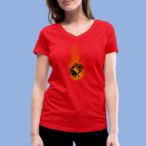 Should I stay or should I go Fire - T-shirt bio col V Stanley & Stella Femme