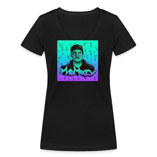 MadMikey Grime Art Sticky Green - Vrouwen bio T-shirt met V-hals van Stanley & Stella
