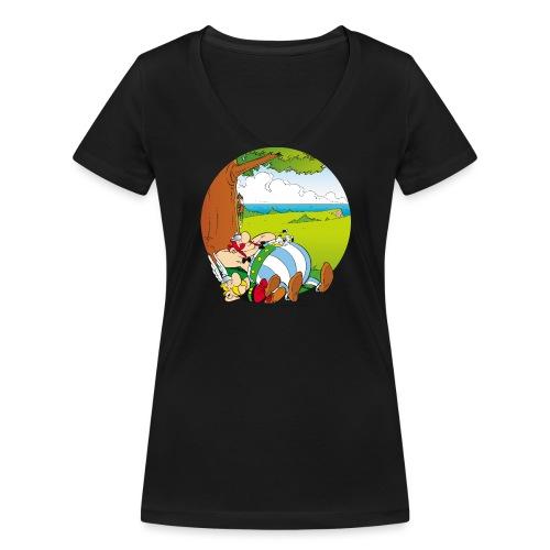 Astérix & Obélix Font Une Sieste - T-shirt bio col V Stanley & Stella Femme