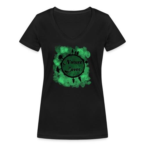 Naturliebhaber - Frauen Bio-T-Shirt mit V-Ausschnitt von Stanley & Stella