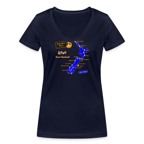 Kiwi-01 - Stanley & Stellan naisten v-aukkoinen luomu-T-paita