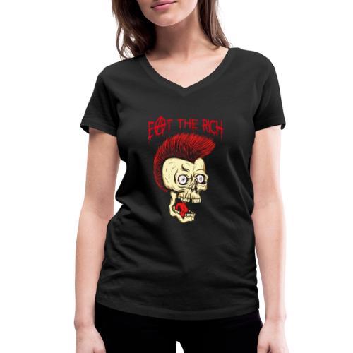 Eat The Rich (For Dark Shirts) - Frauen Bio-T-Shirt mit V-Ausschnitt von Stanley & Stella
