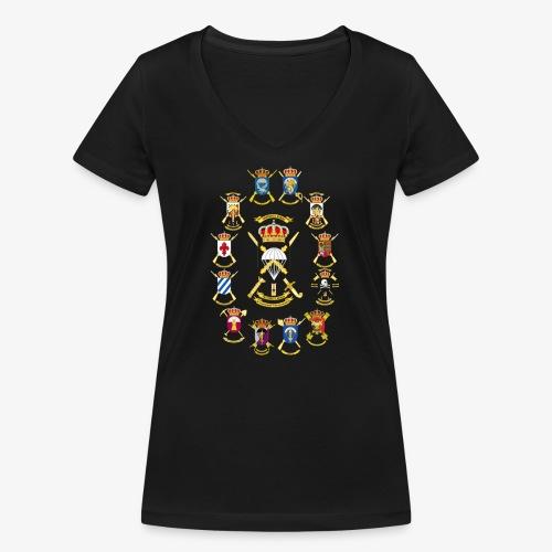 UNIDADES BRIPAC - Camiseta ecológica mujer con cuello de pico de Stanley & Stella