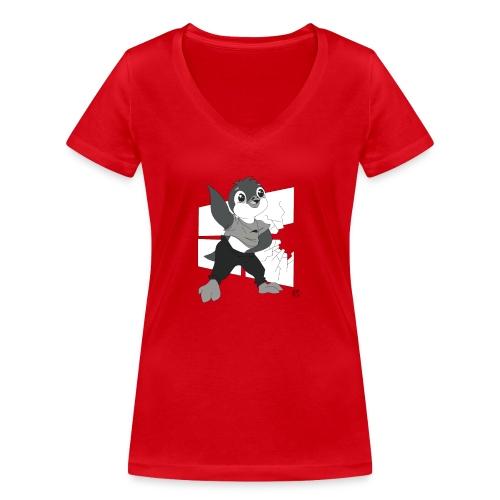 Le pingouin de Nice - T-shirt bio col V Stanley & Stella Femme