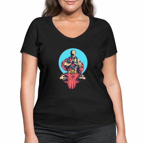 Inner Peace Inner Peace Gift Idea - Women's Organic V-Neck T-Shirt by Stanley & Stella