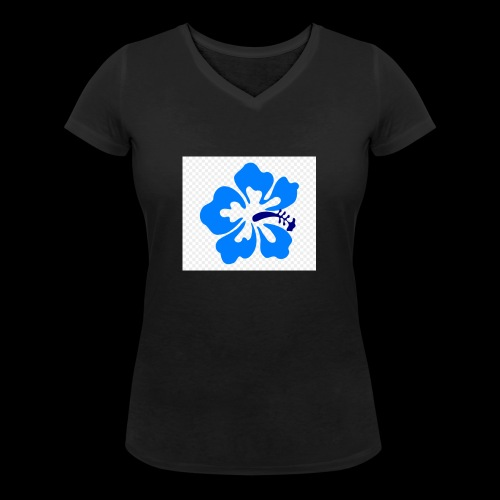 hawaiian flower - Women's Organic V-Neck T-Shirt by Stanley & Stella